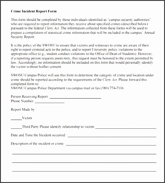 Free Police Report Template  Sampletemplatess  Sampletemplatess