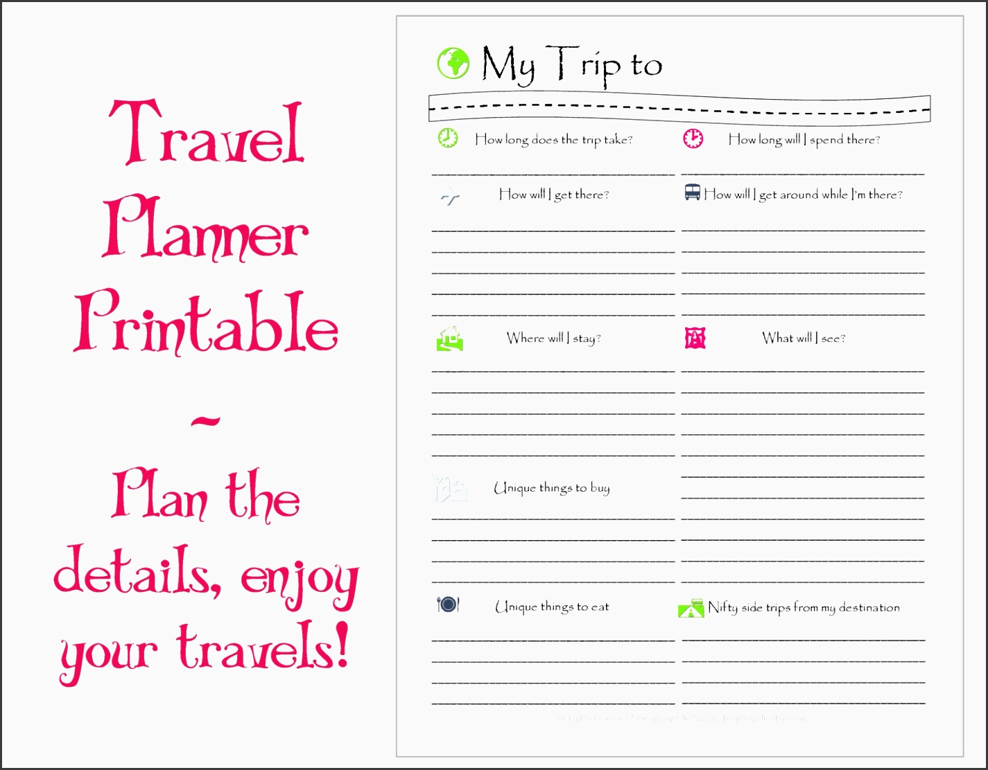 travel plans template