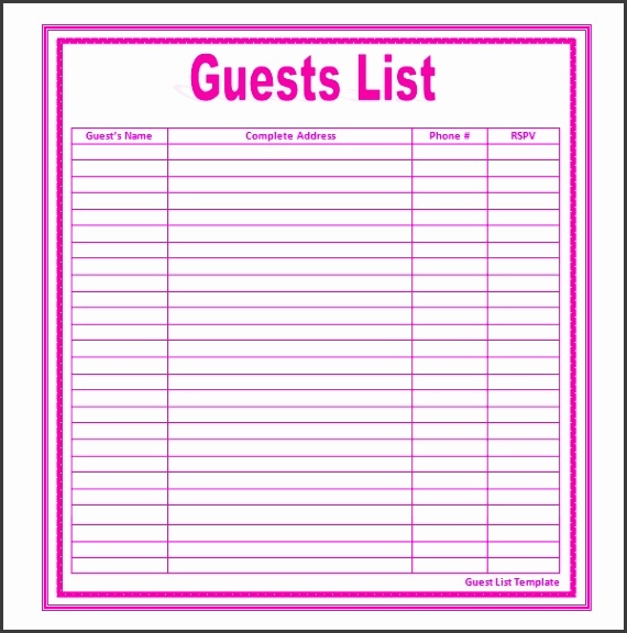 free online rsvp and guest list tool address change template event