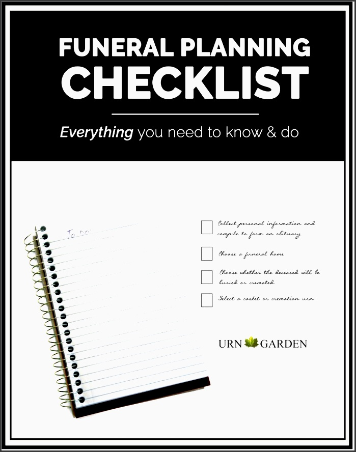 how to plan a funeral or memorial service plete checklist to help with each task