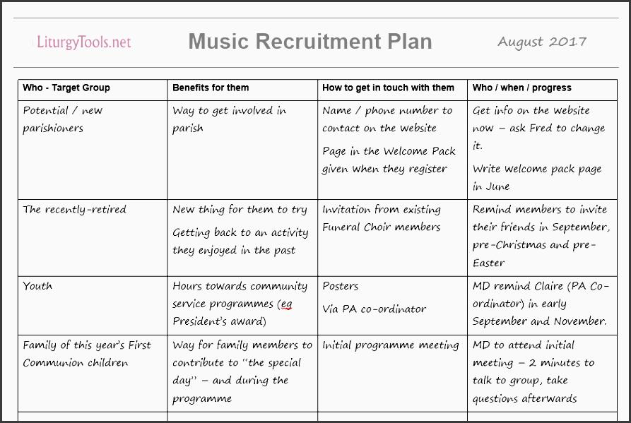 example recruitment plan