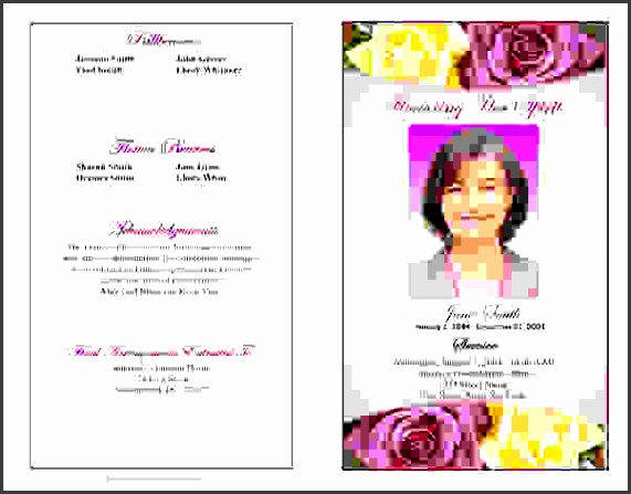 Funeral Program Example  Sampletemplatess  Sampletemplatess