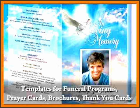 Free Funeral Program Templates Microsoft Word 1  Free Memorial Program Templates