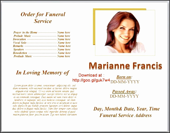 funeral program templates on pinterest able editable in microsoft word with plain layout and white color