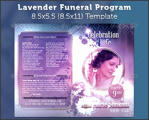 9 funeral program templates