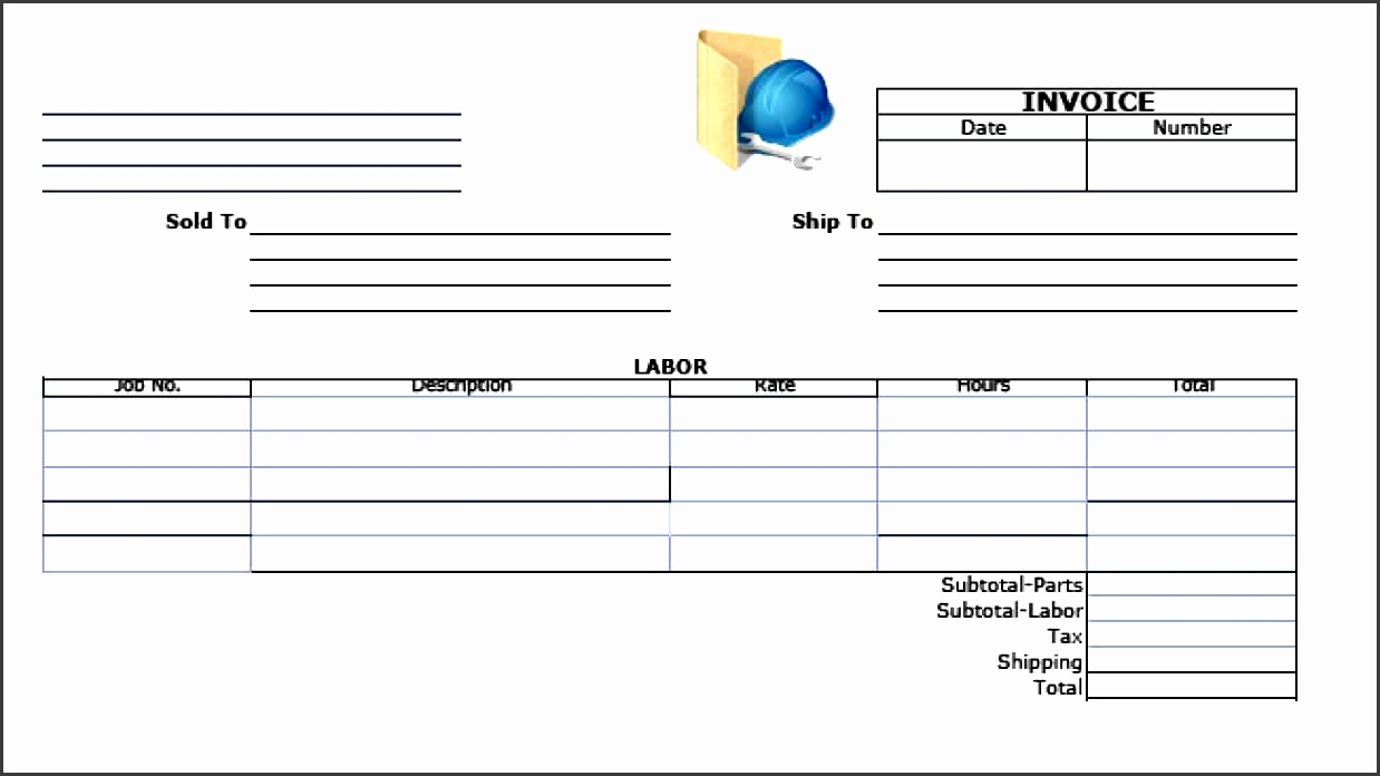 labor invoice template