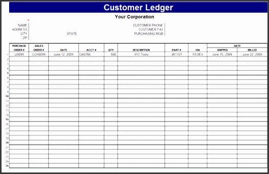 9 general ledger spreadsheet template