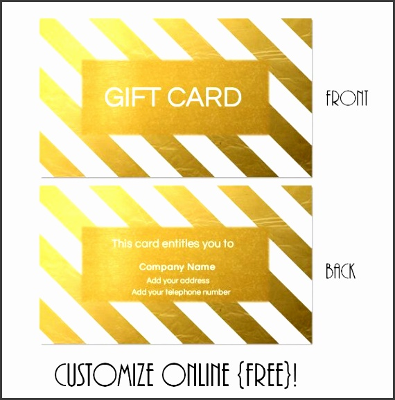 gold t card template with gold diagonal stripes