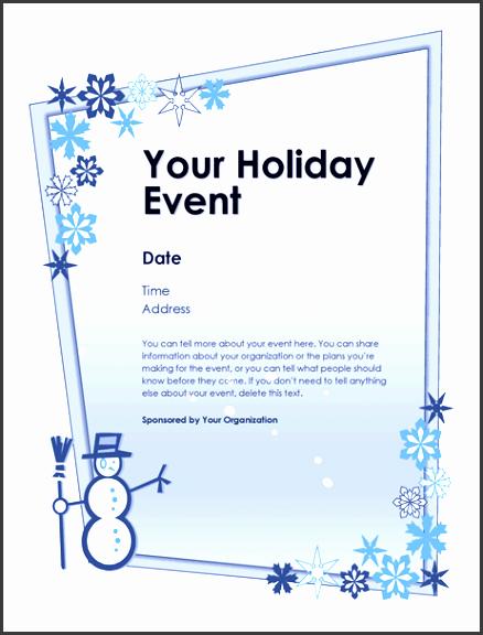 7 Holiday Event Flyer Template Sampletemplatess Sampletemplatess