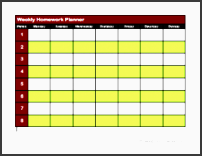 homework agenda templates free sample example format word templates pro other