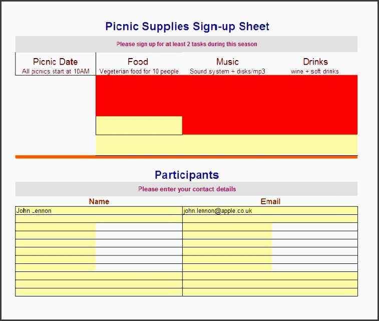 printable sign up sheet template 01