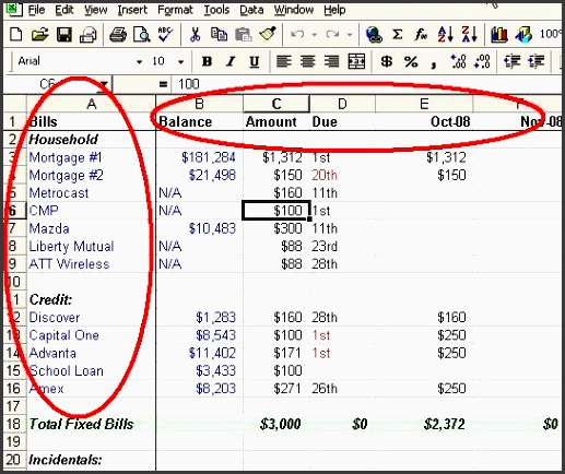 make a personal bud on excel in 4 easy steps bud ing ocd and excel bud