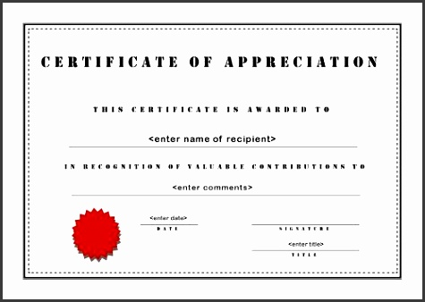 certificate of appreciation a4 landscape stencil formal certificate template
