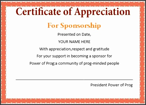 8 how to design certificate of appreciation sampletemplatess certificate of appreciation for sponsors wording yelopaper Choice Image