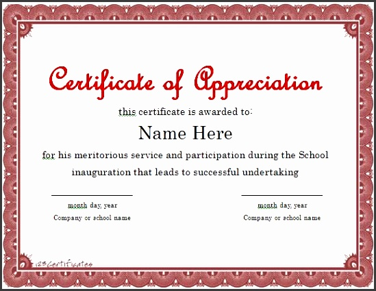 certificate appreciation template word 30 free certificate of appreciation templates and letters