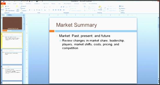 market summary powerpoint template