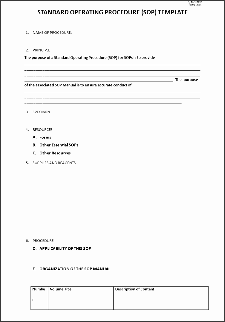 standard operating procedure template how to write a standard operating procedure sop