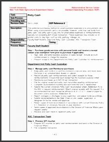 standard operating procedure template example evq8bwf6
