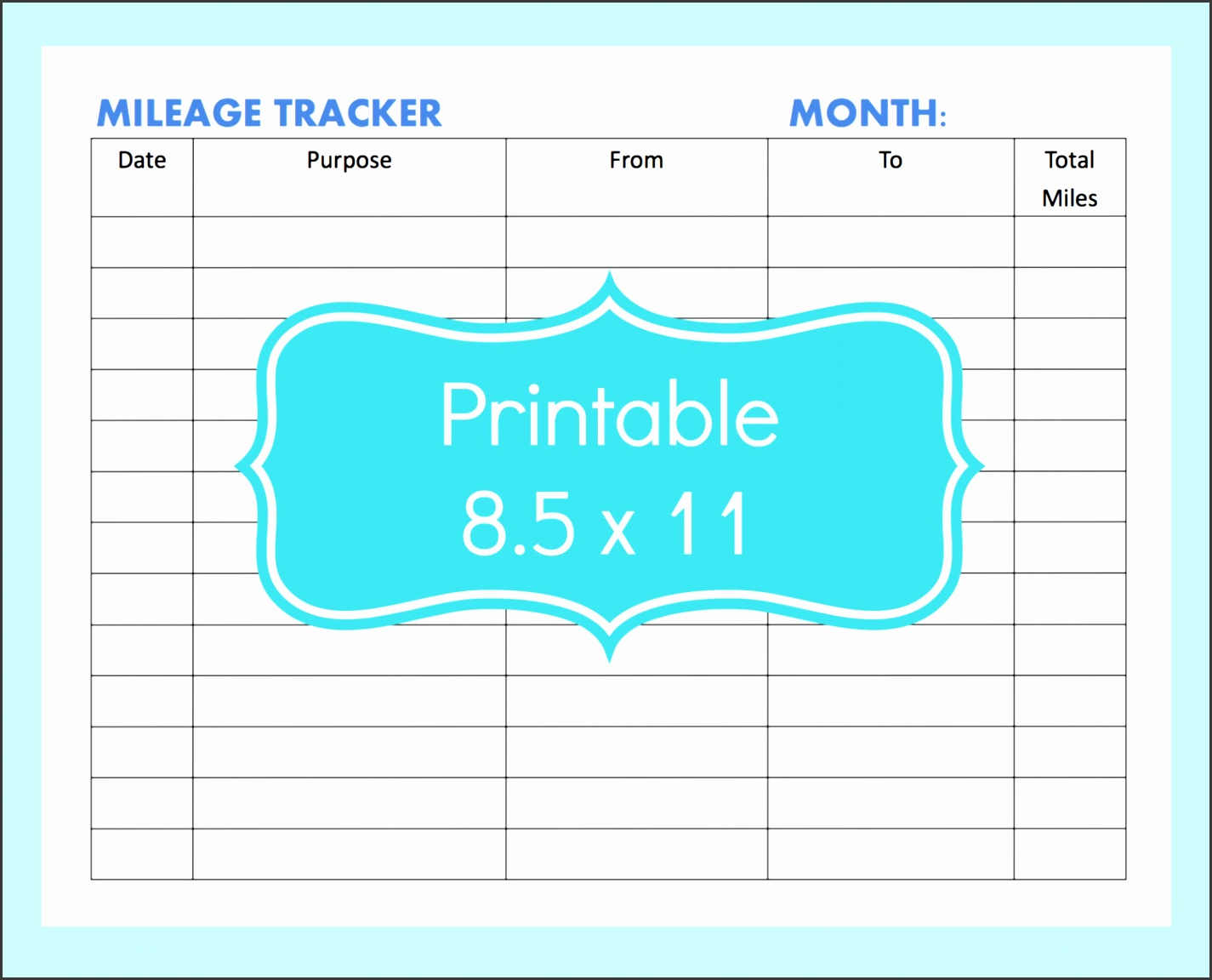 mileage tracker form printable