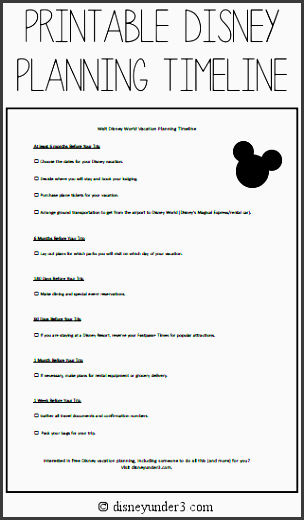 printable disney planning timeline