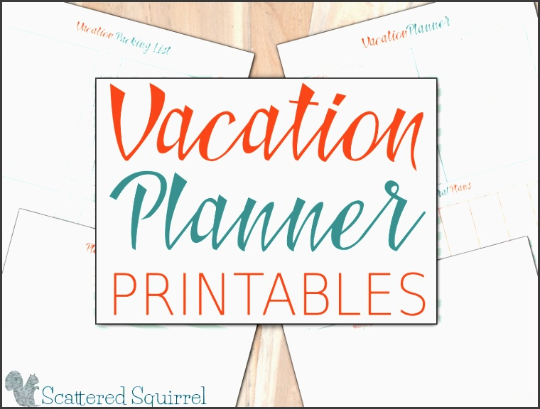 a few handy printable vacation planners to help make your vacation a little less stressful