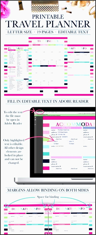 printable travel planner vacation planner trip planner travel planning kit trip itinerary