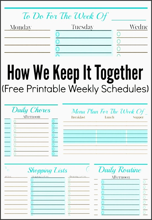 free weekly planner templates some awesome ideas here for staying organized and making a schedule