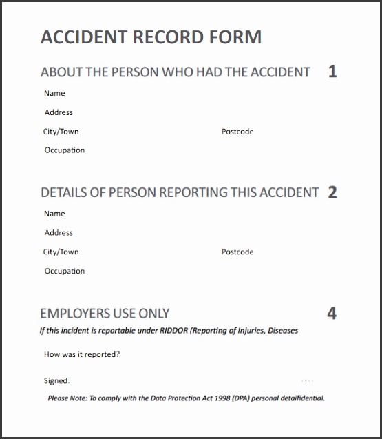 4  incident report template