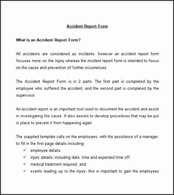 Incident Report Form Template Word Usefullhand  Free Incident Report Template