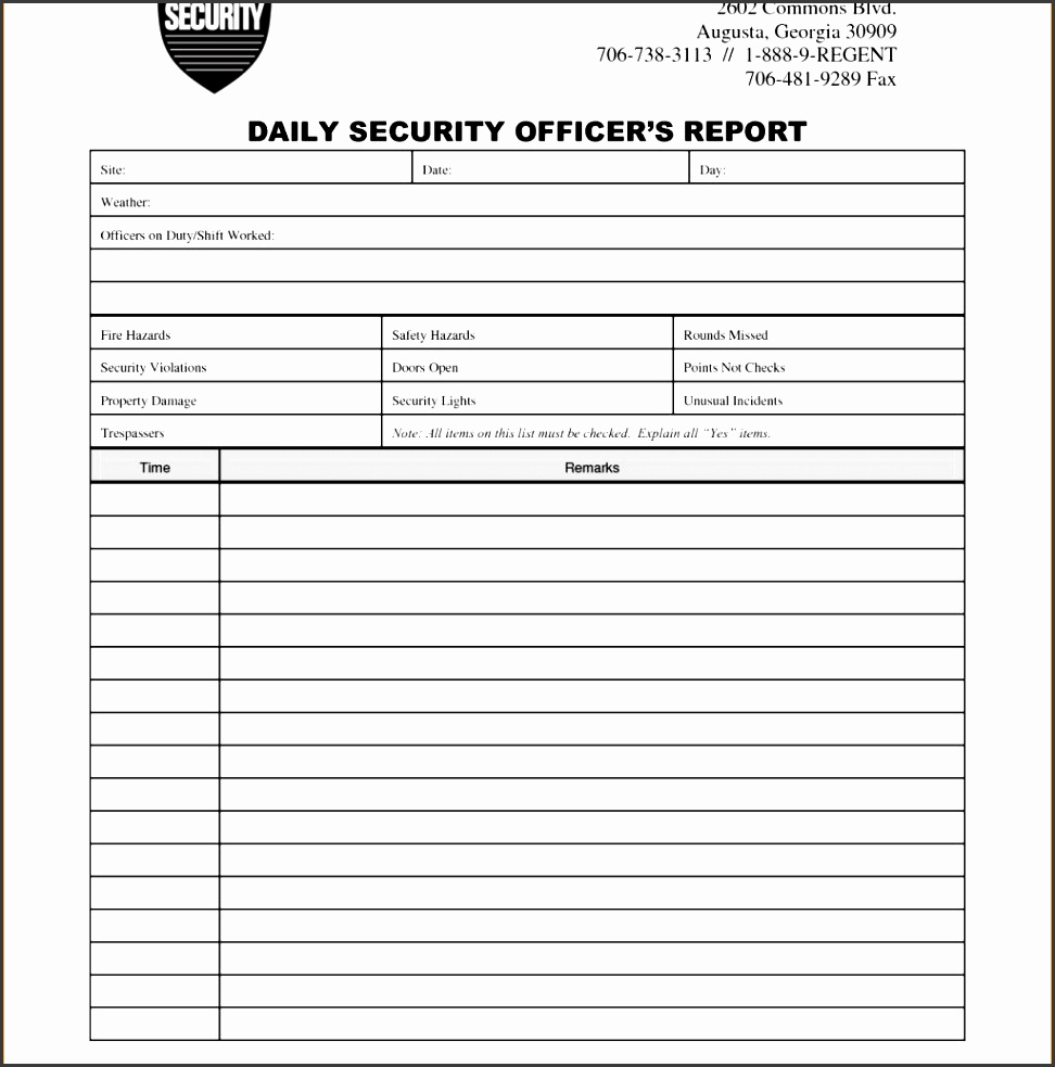 3 security incident report template expense report intended for example of security guard report