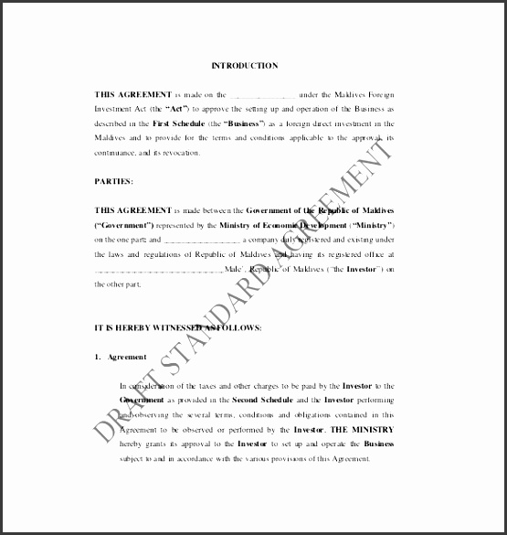 Fine Investor Agreement Template Free Images - Resume Ideas - bayaar ...