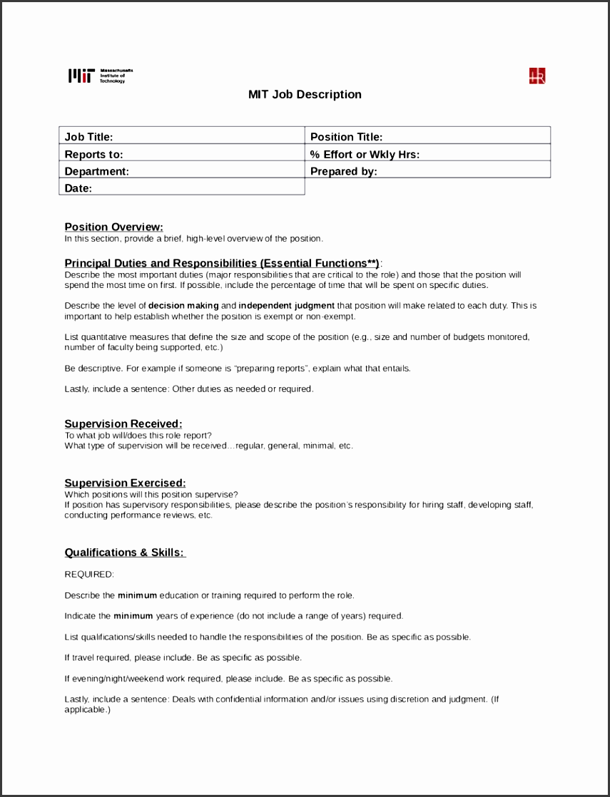 creating job descriptions template - 4 job description form sampletemplatess sampletemplatess
