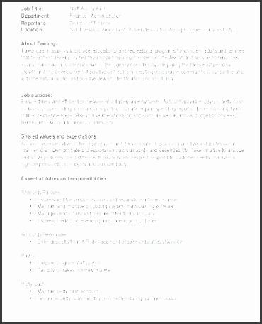 7 Job Description Format Sampletemplatess Sampletemplatess
