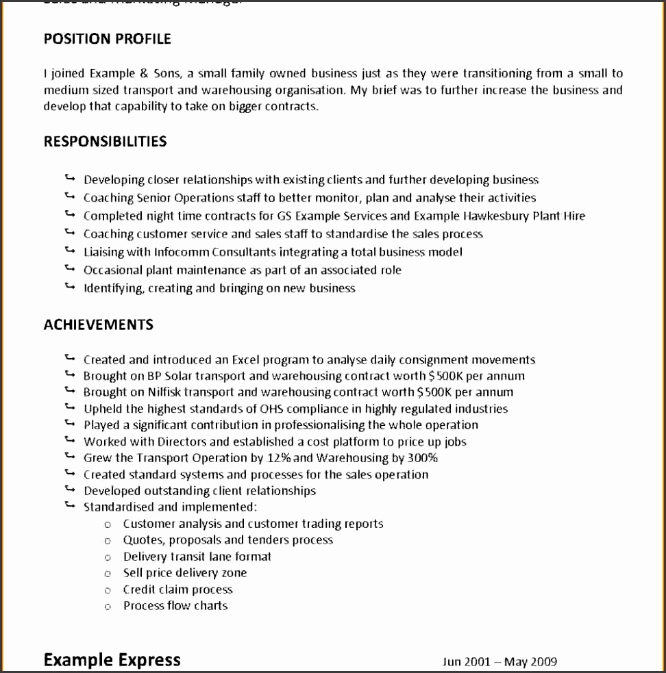 11 Job Description Statement Template Sampletemplatess