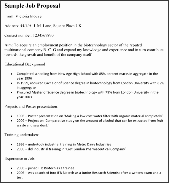Job Position Proposal Template Images Template Design Free Download