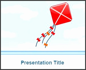free kite powerpoint template