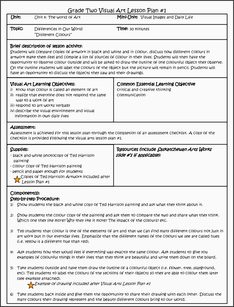 6 lesson plan checklist for teachers sampletemplatess for Lesson preparation template