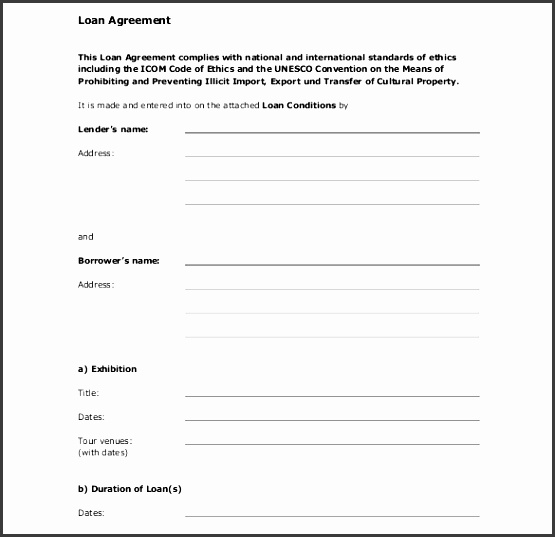 standard loan contract template free pdf format