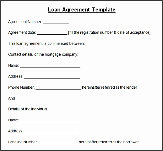 personal loan contract template exceptional sample loan agreement format made between borrower and