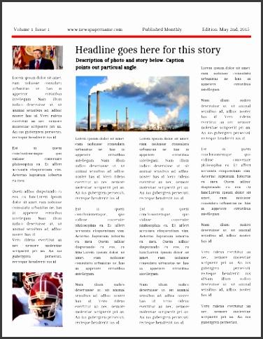 9 Local Newspaper Template - SampleTemplatess ...
