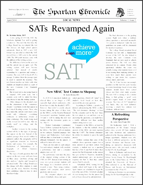 School Newspaper Templates Leoncapers