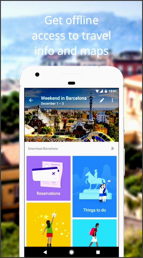 google trips travel planner screenshot
