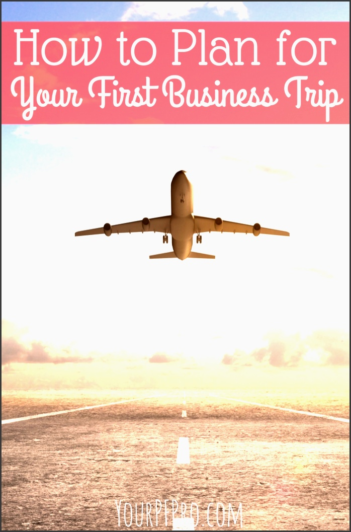 how to plan for your first business trip