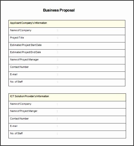 4+ Make Free Job Proposal In Excel - SampleTemplatess ...