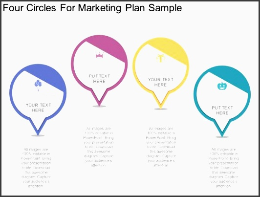 four circles for marketing plan sample powerpoint template 1 four circles for marketing plan sample powerpoint template 2