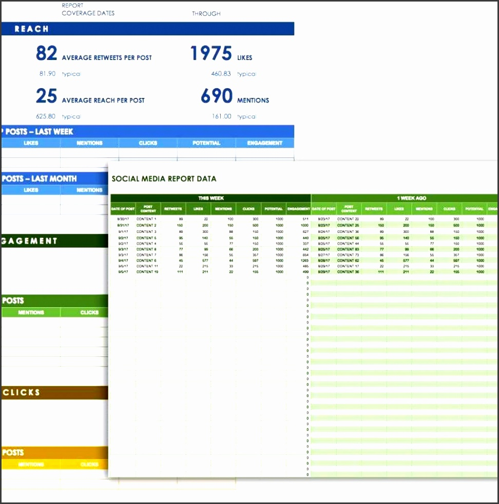 12 free social media templates smartsheet inside digital marketing report template