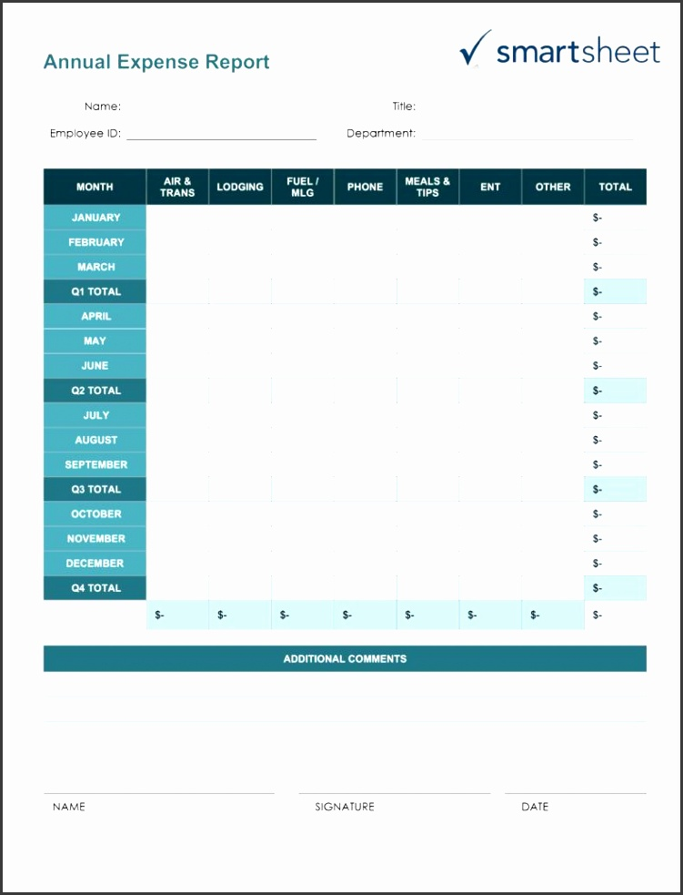 sales and marketing report template and free expense report templates smartsheet