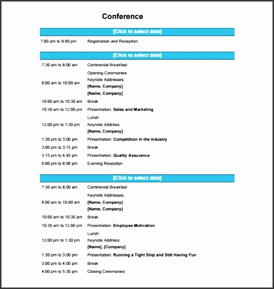 conference presentation template conference schedule template 10 free word excel pdf format