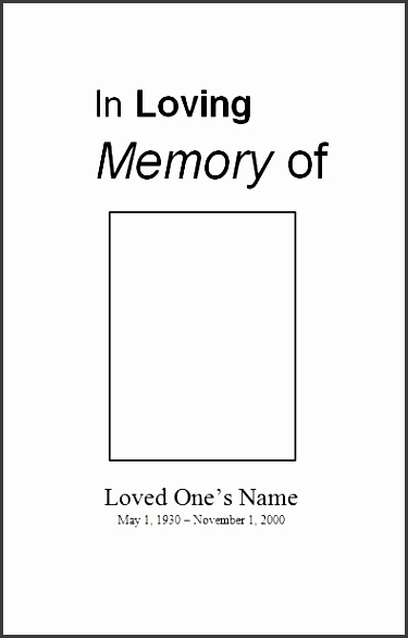 check out our sample funeral program template also known as sample memorial service template