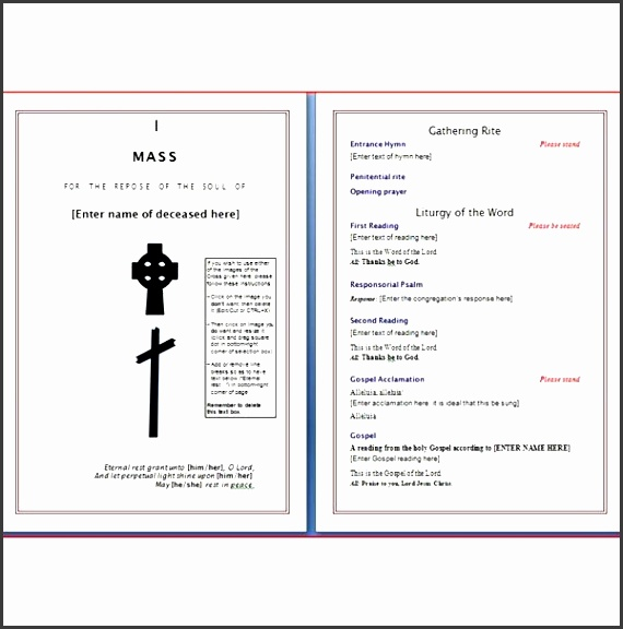 microsoft word template funeral programs wordtemplates